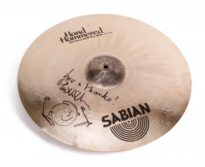 Cymbal handsigniert von Phil Collins