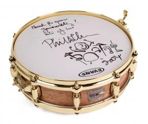 Snaredrum handsigniert von Phil Collins